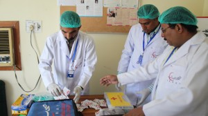 vaccination sehatpk team cotton swab painkillers syringes gloves masks caps